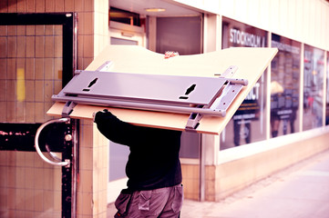 Mover carrying desk