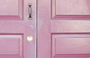 The doors made of wood background