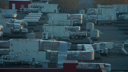 Exhaust vents of industrial air conditioning and ventilation