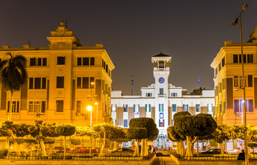 Cairo Governorate building at night - Egypt