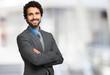 Leinwanddruck Bild - Smiling businessman