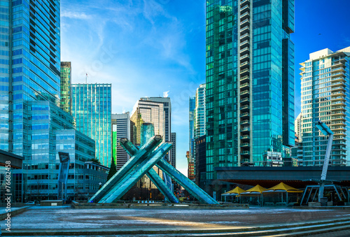canvas print picture Olympic Cauldron at Jack Poole Plaza in Vancouver.
