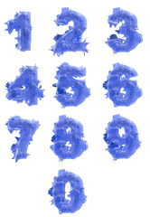 Set of icy digits