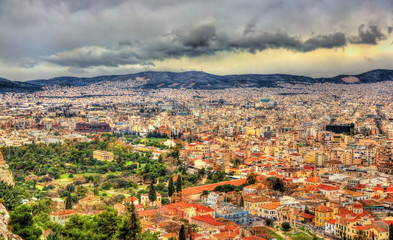 View of Ancient Agora of Athens - Greece
