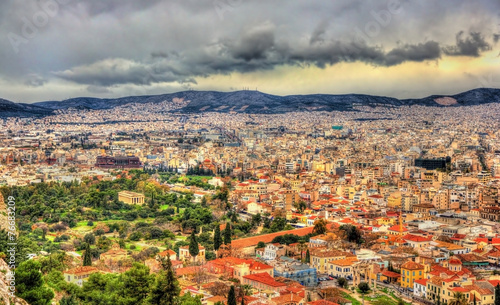 Staande foto Athene View of Ancient Agora of Athens - Greece