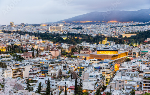 View of Athens in the evening - Greece