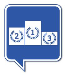 Logo podium.