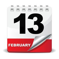 13 FEBRUARY ICON