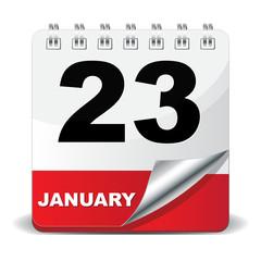 23 JANUARY ICON