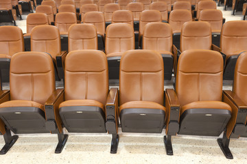 leather seats in the theatre, conference room