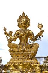 golden Brahma image, Brahman statue,