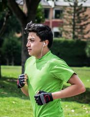 Jogging near home vertical