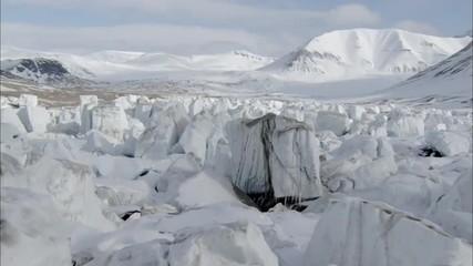 Snow Rocky Bouldered Polar