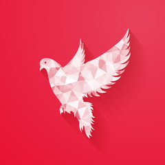 abstract dove for Happy Valentine's Day design