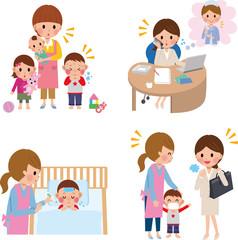 病児保育 保育園 母親