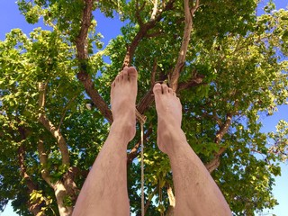 my leg up to the sky