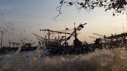 Fishing boats in Huahin Thailand