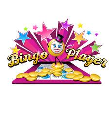 original bingo illustration logo design