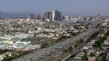 Los Angeles city freeway