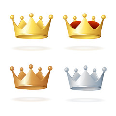 Vector. Set of royal crowns