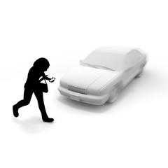 スマートフォン使用/危険/事故