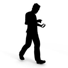 歩きながらスマートフォン/男性