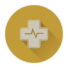 Medical flat icon with long shadow