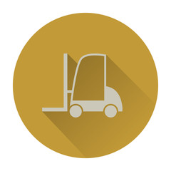 Forklift flat icon with long shadow