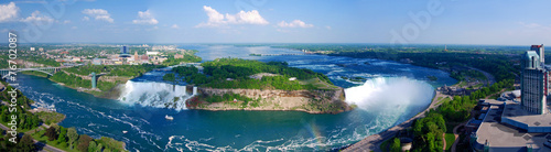 Leinwanddruck Bild Niagara Falls Panorama