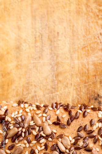 Fotobehang Brood multigrain bread roll