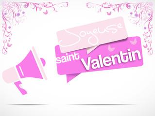 mégaphone : joyeuse saint valentin