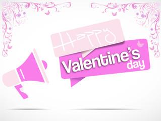 megaphone : happy valentine's day