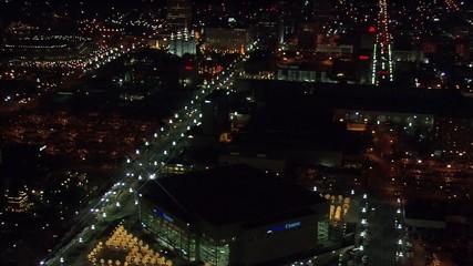 Utah Lights Buildings Delta Center
