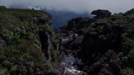 Mountains Stream Boulders Canyon Ridge