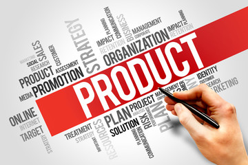 PRODUCT word cloud, business concept
