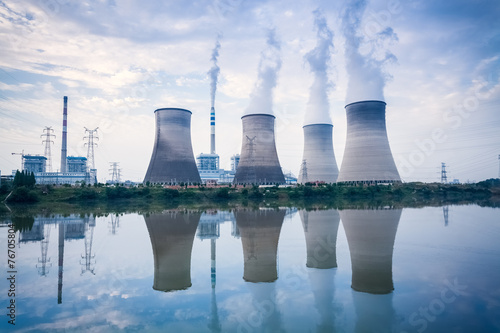 Tuinposter Openbaar geb. coal-fired power plant