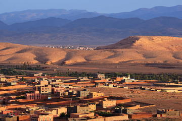 Morocco. City Tinghir in the Atlas Mountains