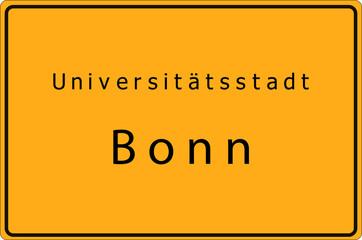 Bonn - Universitätsstadt - Ortsschild