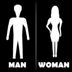 Man and Woman  Restroom Symbol Icon. Vector illustration
