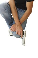 man whit gun