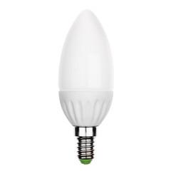 LED light bulb with E14 socket Isolated on white