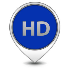 HD pointer icon on white background