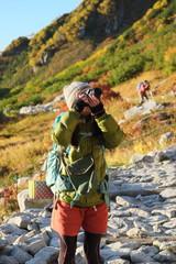 カメラ女子登山女子