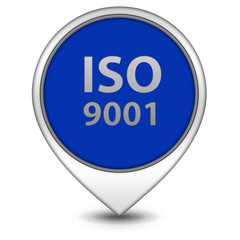 Iso 9001 pointer icon on white background