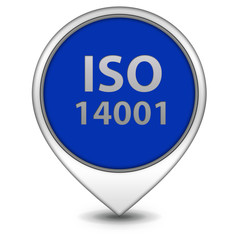 Iso 14001 pointer icon on white background