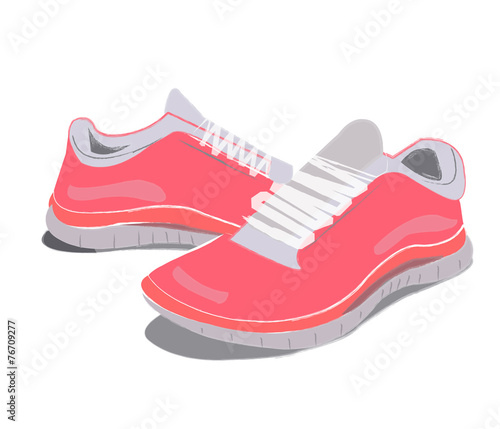canvas print picture Pink Sneakers