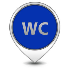 WC pointer icon on white background