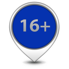 16+ pointer icon on white background