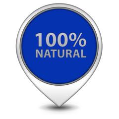 100% natural pointer icon on white background