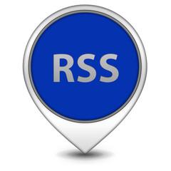 RSS pointer icon on white background